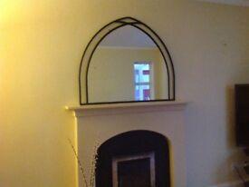 Cast Iron wall mirror