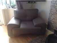 Excellent quality 3 piece grey leather suite