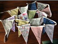 22x10ft lengths of pastel coloured bunting made for a wedding venue that was cancelled.