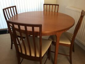 GPlan Dining Table and 4Chairs