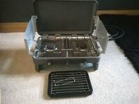 Double ring gas stove with grill and gas bottle