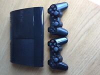 PS3 with 700 gb HD 2 controllers and games
