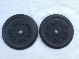 6 x 7.5kg Bodysculpture Standard Cast Iron Weights