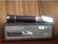 Marine refractometer & blue light