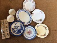 5 plates 3 bone china made in England