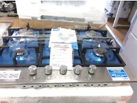 5burner stainless steel gas hob new graded 12 mths gtee
