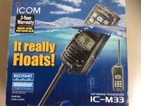 VHF MARINE TRANSCEIVER IC-M33