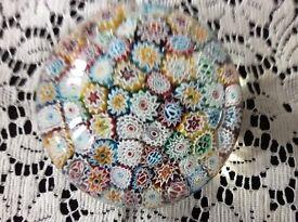 Venetian Murano Glass Paperweight Millefiori (Vintage)