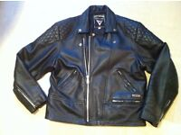 mens leather motorcycle jacket chest 44""