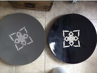 2 Large Table Top Boho Ethnic Decorative Distressed Trays Plates TK MAXX