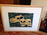 Original painting of skulls