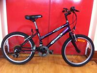 "Girls mountain bike - Emmelle Nightshade: 20"" wheels, 6-speed. For 7-9 year-olds"