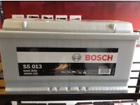 BOSCH CAR BATTERY. 100Ah WITH 5 YEARS GUARANTEE.