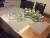 Assorted glass jars for storage, decorations, weddings etc