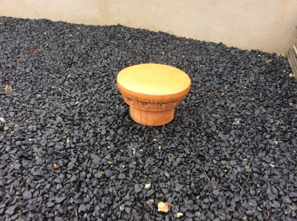 Chimmey pot lid with air vents