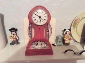 Vintage Art Noveal Clock Original Case