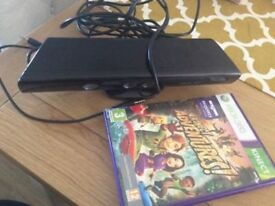 Xbox 360 Kinect sensor and Kinect adventures game