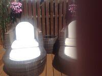 Ratten garden seat set