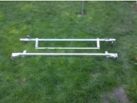 Roof bars with roller for ford transit