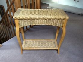 Cane Console side table