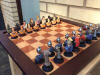 Romans vs Egyptians die cast chess pieces