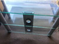 3 tier glass television stand