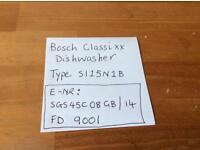 Bosch dishwasher and washing machine