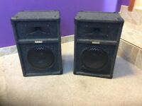 Pair of speakers and power amp.