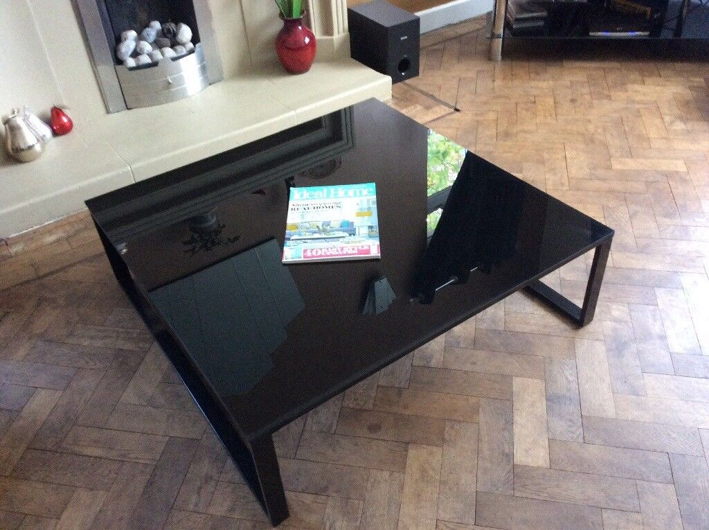 Black Glass Coffee Table From Dwell In Coventry West Midlands Gumtree