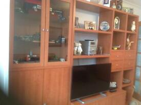 Mahogany style display unit ,plus matching sideboard
