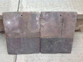 Reclaimed roof slates 13 X 10 inches 33 X 26 centimetres