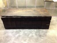 ANTIQUE WOODEN BOX WITH INLAY