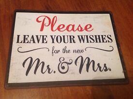 Vintage look wedding sign
