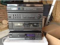Panasonic 1980/90s music stack system and speakers