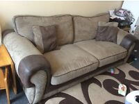 Fabric 3 Seater and 2 Seater Sofa