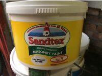 Masonry Paint. Sandtex 20 litres. Brilliant White.