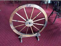 Decorative replica ship's wheel
