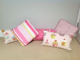 Girl's/Kid's/Children's Cushions - Set of 5