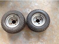 Pair of Quad Wheels & Tyres 165x6.5-8