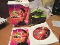 Wii Zumba fitness dvd and fitness belt - very good condition ,