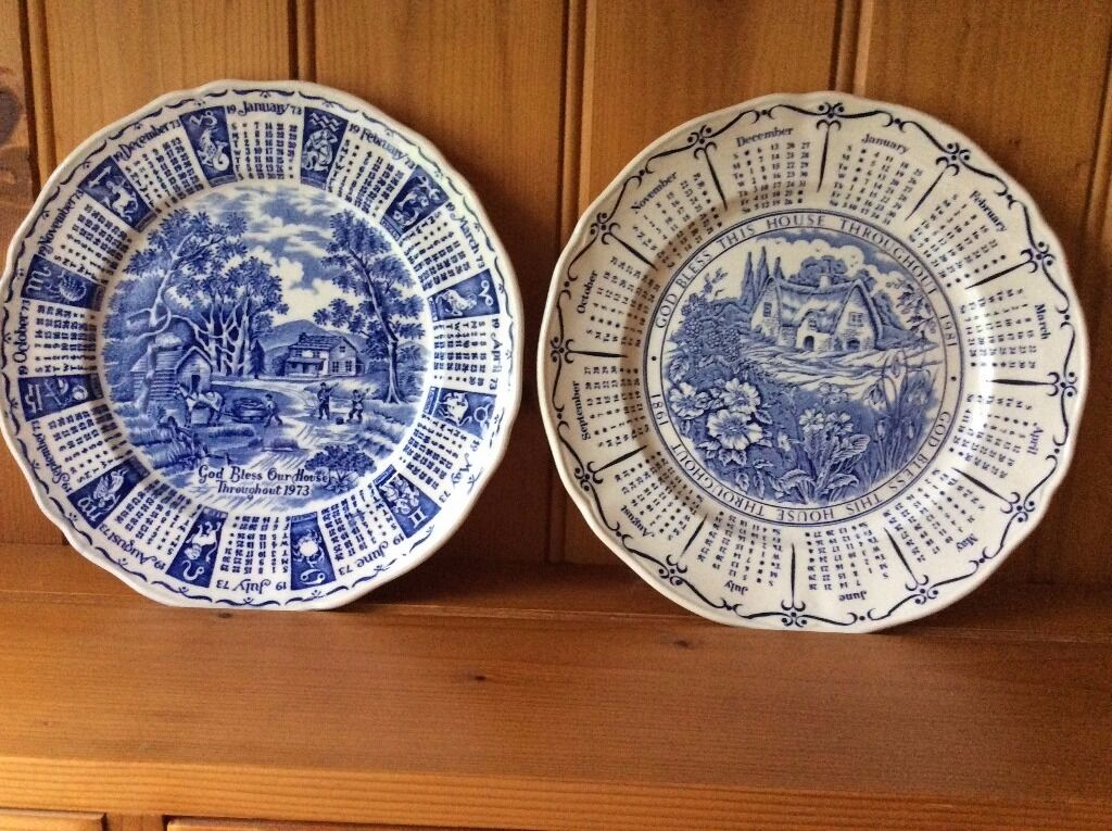 Ringtons 2 God Bless This House Calendar Plates 1973 And 1981 In