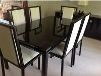 Dining room suite with WOW factor. This is a superb classy Pierre Vandel suite of 11 pieces