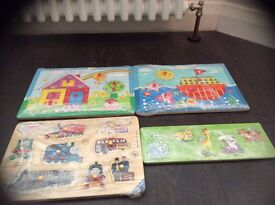 4 x wooden puzzles