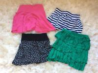 Collection bundle of four size 8 skirts