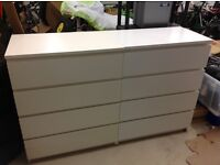 Chest of 4 drawers MALM white