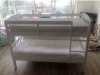 White wooden John Lewis bunk bed for sale in perfect condition