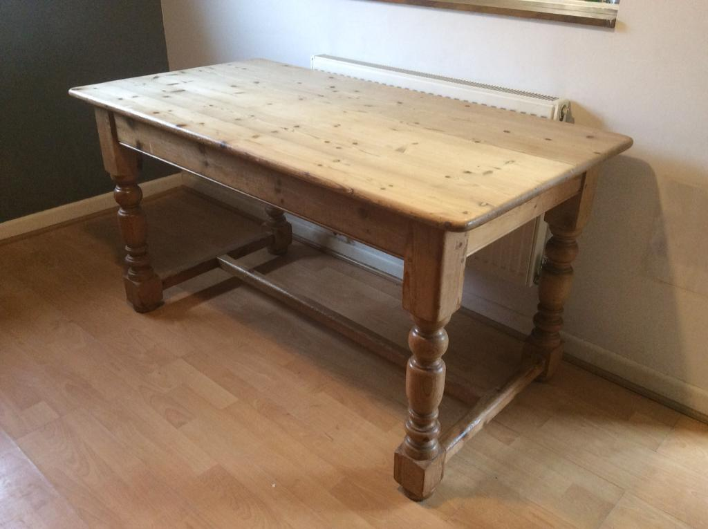 Refectory Style Scrubbed Pine Table