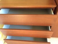 IKEA Malm wardrobe and chest of drawers