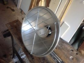 Heat lamps with bulbs for poultry, puppies, kittens, piglets.