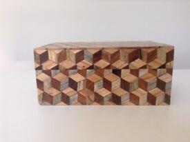 Wooden aztec box.